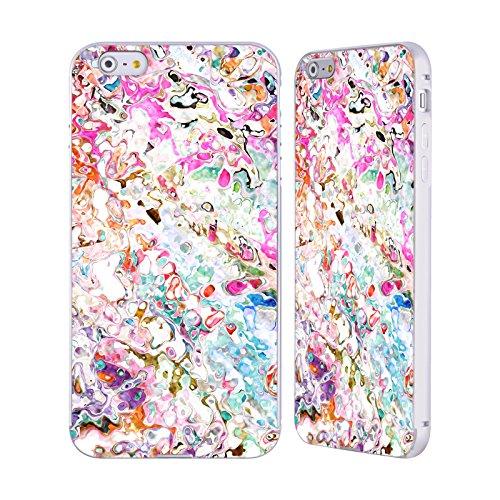 Ufficiale Shelly Bremmer Boccioli Astratto Colorato Argento Cover Contorno con Bumper in Alluminio per Apple iPhone 5 / 5s / SE Boccioli