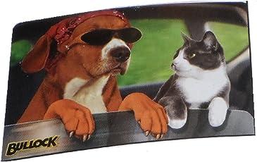 2x Autosonnenschutzfolie / Sonnenschutzfolie / perfekter Sonnschutz für die hintere Scheibe / Die Folie wird einfach an die hintere Scheibe geklebt / Keine lästigen Saugnäpfe mehr / die Scheibe kann wie gewohnt geöffnet werden / Abschirmung des Lichteinfluss von 85 % / Größe ca. 30 x 44 cm / in verschiedenen Motiven / Affe / Hund und Katze / grau (Hund und Katze)