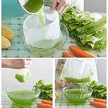 Bolsa de nailon reutilizable de malla fina para colador de alimentos, filtro de grado alimenticio