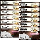 Gourmet à la Carte Repas pour chat adulte Fantaisies du Chef 4 x 85 g - Lot de 12 (48 sachets fraîcheurs)
