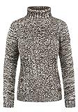 DESIRES Philipa Damen Rollkragenpullover Pullover Zopfstrick Mit Rollkragen Aus 100% Baumwolle, Größe:S, Farbe:Coffee Bean (5973)
