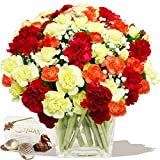 ENCHANTED BOUQUET & CHOCOLATES - Exclusive bouquets of flowers for birthday and thank you by Eden4flowers