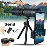 Gebuter 4K 10-300 x 40mm Super Telephoto Zoom Monocular Telescope for Watching Game Beach Travel