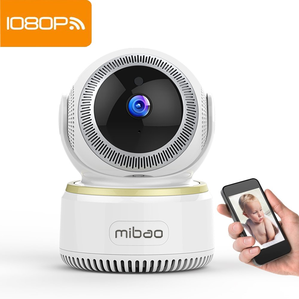 Mibao Security Camera IP Camera 1080P WiFi Surveillance System with HD Night Vision,Video Recording,Remote Motion…