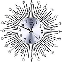 reloj de pared adhesivo grande, Sannysis reloj vintage digital cocina moderno mecanismo 3d (Negro)