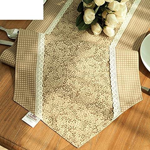 tessuto doppio tavolo runner/pastorale americana Campagne Table Runner, A, 35x180cm(14x71inch) - Bunny Casa Decorativa Flag