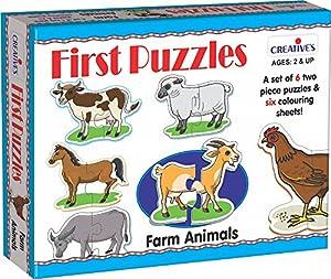 Creative Educational 0796Animales de Granja Primer Puzzle