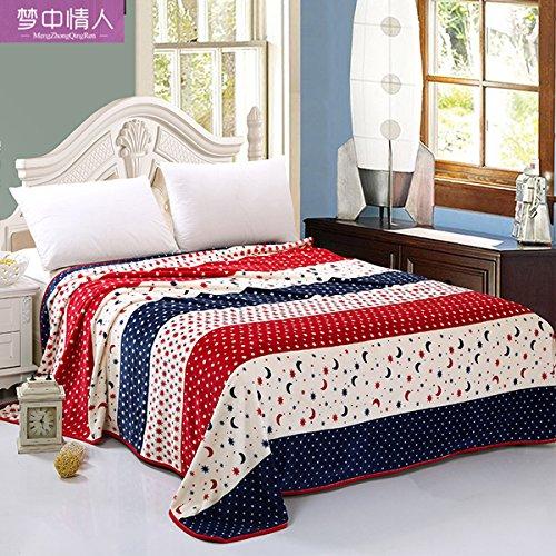 BDUK Coral Decke dicke Bettdecken Flanell Herbst und Winter decken Doppel Mittagspause Decken, Handtücher sind 120cmx200cm, xingyue Legenden (Coral Legende)
