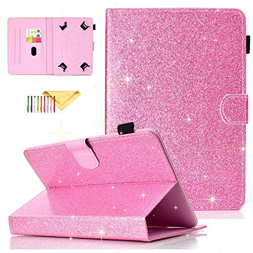 Uliking Universal Bling Glitzer Hülle für Samsung Galaxy Tablet, Apple iPad, Amazon Kindle, Google Nexus und weitere 16,5-10,5 Zoll Tablet - 8 Tablet Case Zoll-rca