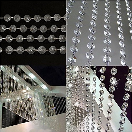 bazaar-75ft-guirlande-de-cristal-perles-diamant-brin-acrylique-mariage-bricolage-decoration-fete