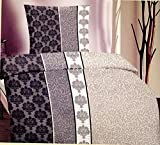 Leonado Vincenti | Verschiedene Microfaser Bettwäschen | 2-teilig mit Reißverschluss| 1 Bettbezug 135x200 cm | 1 Kissenbezug ca. 80x80 cm | geprüfte Qualität 1,5 Sehr Gut | Schadstoffgeprüft | (Ranke Elegant)