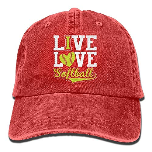 Ive Love - Softball Vintage Washed Dyed Cotton Twill Low Profile Adjustable Baseball Cap Bio Washed Cotton Twill Cap