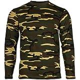 Mil-Tec Woodland Camouflage Pattern Long Sleeve T-Shirt (XXL)