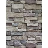 Ohmywor Brick Wallpaper Self Adhesive Wallpaper Peel and Stick Stone Wallpaper Paste Brick Effect Wallpaper Lining Paper Viny