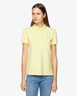 canta Explosivos leninismo  Benetton Marielle T-Shirts & Poloshirts Damen Weiss/Blau - S - Polohemden  Shirt: Amazon.de: Bekleidung