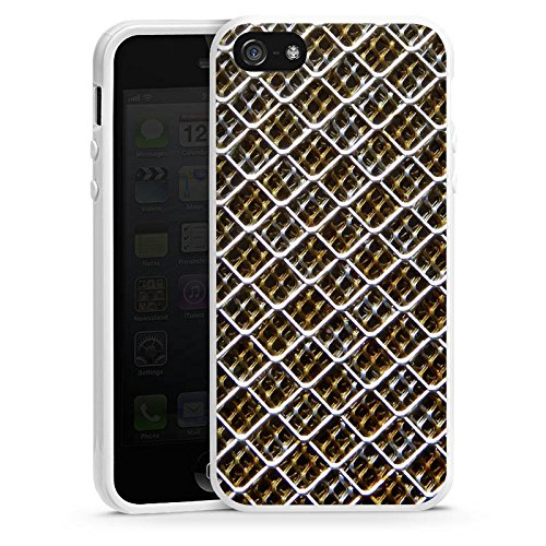 Apple iPhone 6 Housse Étui Silicone Coque Protection Grillage Grillage Motif Housse en silicone blanc