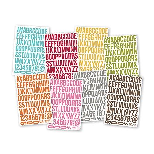 Simple Stories Aufkleber Buchstaben, Alphabet, Aufkleber für Grußkarten, Aufkleberbogen (Papier-buchstaben-alphabet)