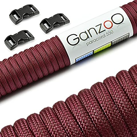 Ganzoo Paracord 550 Rope Starter Kit with 3 Click