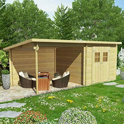 Xingshuoonline Gartenschuppen, Gartenschuppen aus Massivholz, kann als Aufbewahrungsschuppen für...