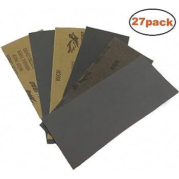 papier de verre papier abrasif sec de 400 3000 grit 9 x. Black Bedroom Furniture Sets. Home Design Ideas