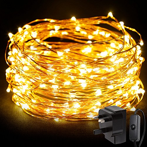 LE 20m 200 LED String Light Waterproof Copper Wire Fairy Starry Lights Firefly Lights Warm White Garden Patio Party Valentine's Day Wedding Christmas Tree Outdoor Decoration Bedroom Test