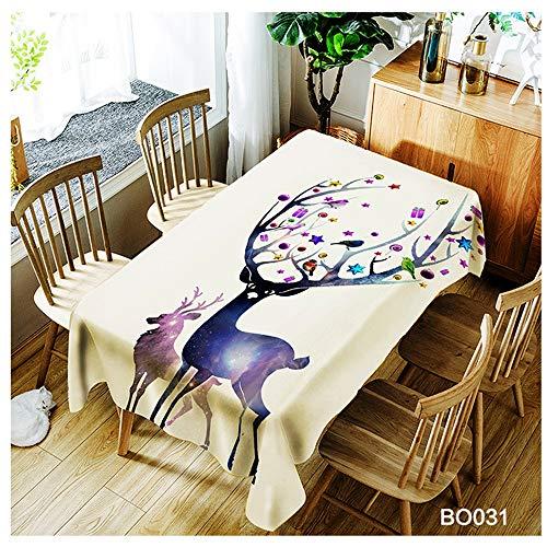QWEASDZX Kreative Mode Tischdecke Polyester Digitaldruck wasserdichte Anti-Fleck-Tischdecke Geeignet für Innen- und Außenbereich Rechteckige Tischdecke Nachfüllbar 100x140cm -