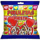Fiesta Piruletas Corazon - 91 gr - [Pack de 12]
