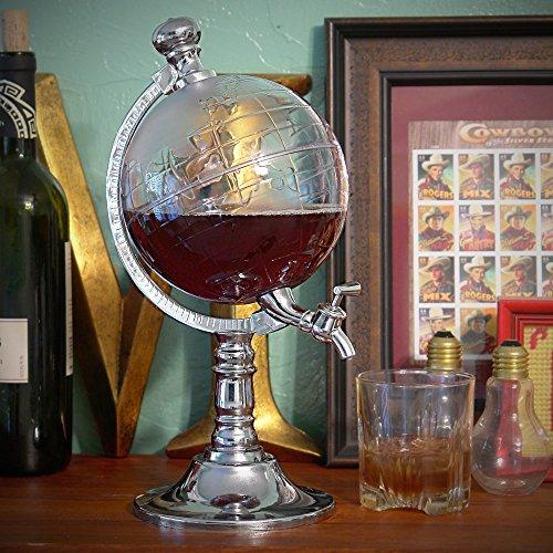 Takestop® spillatore globo 1.5 litri alla spina fresca mappamondo erogatore bibite whisky birra alcoliche dispenser distributore