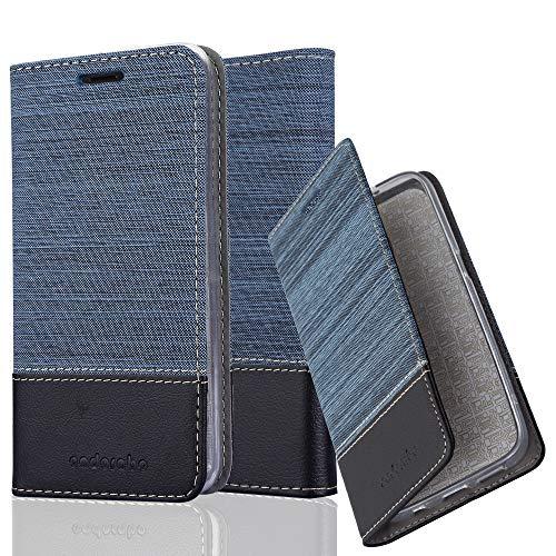 Cadorabo Funda Libro para BQ Aquaris M5 en Azul Oscuro Negro - Cubierta Proteccíon con Cierre Magnético, Tarjetero y Función de Suporte - Etui Case Cover Carcasa