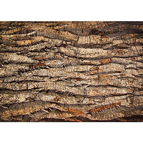 Vlies Fototapete PREMIUM PLUS Wand Foto Tapete Wand Bild Vliestapete - Holz Holzoptik Rinde Linien Wellen - no. 2235, Größe:208x146cm Vlies (Rinde Plus)