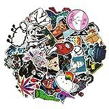 MMilelo Vinyl Aufkleber 50 Stück Wasserdicht Graffiti Decals Stickerbomb für Auto, Skateboard, Koffer, Motorräder, Fahrräder, Boote, Laptop, Snowboard Gepäck und Glatte Oberfläche (H08)