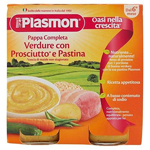 Plasmon pappa verdure pastina e prosciutto 2x190g