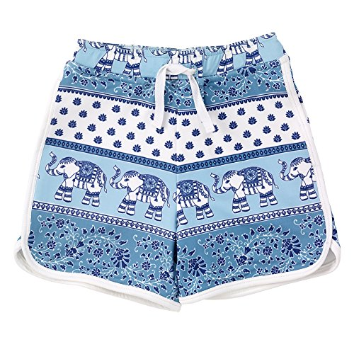 Masala Kids Boy's Shorts Passage To India Turquoise Swim Trunks