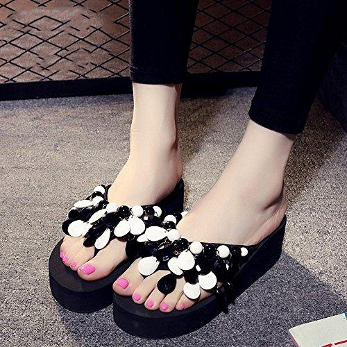 Estate Sandali Pantofole in rilievo fatti a mano Pantofole spesse Sandali di pattini con 8 colori Colore / formato facoltativo #6