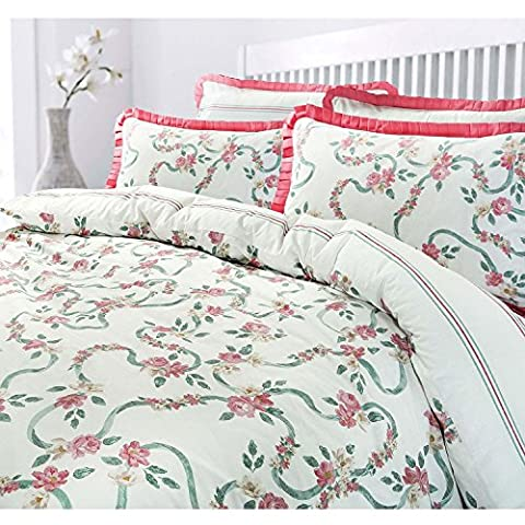 Deluxe Victorian English Country Style Roses Floral Quilt Duvet Cover