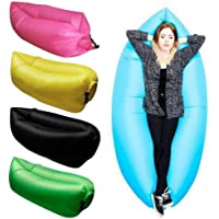 FLIP ZONE Inflatable Polyester Fabric Air Lazy Sofa for Outdoor Camping and Beach