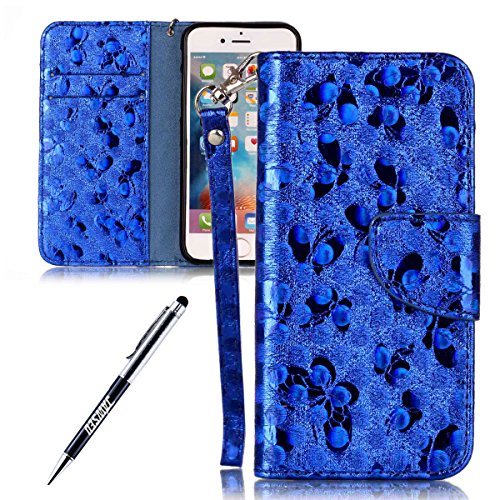 Custodia-iPhone-6S-Plus-Cover-iPhone-6-Plus-JAWSEU-Apple-iPhone-66S-55-Custodia-Cover-Portafoglio-Pell-Lusso-Liscio-Farfalla-Creativo-Wallet-Pouch-Custodia-per-iPhone-66S-Leather-Flip-Cover-con-Morbid