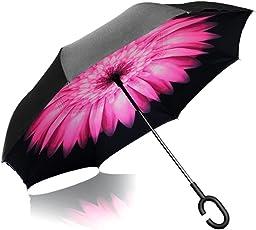 Vetci - Large Reverse Umbrella, UV-Proof with C Shape Handle