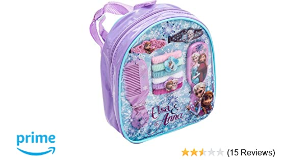 6faa601d8d0d Disney Joy Toy 755077 Frozen Backpack with Assorted Hair Accessories  Amazon.co.uk   Toys   Games