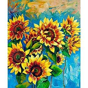 PB Sunflowers Peel & Stick Vinyl Wall Sticker Decal 18 x 21.8inch