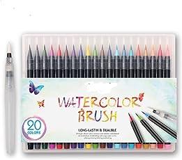 Bianyo Watercolour Painting Brush Marker Pens Set - Pack of 20