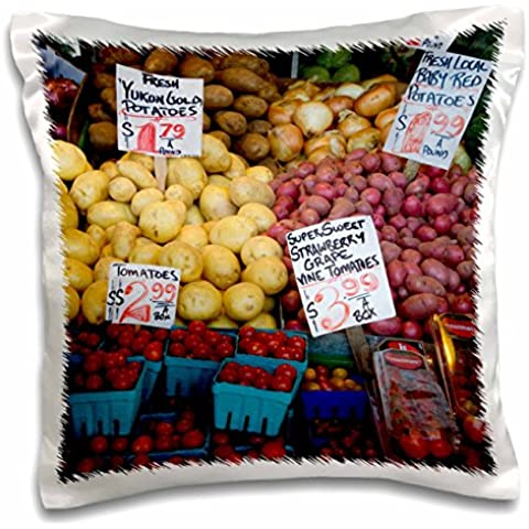 Danita Delimont - Markets - WA, Seattle, Produce at the Pike Place Market - US48 JWI2206 - Jamie and Judy Wild - 16x16 inch Pillow Case (pc_96181_1)