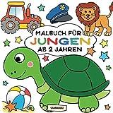 Malbuch Jungen ab 2 Jahren: Mein erster Malspaß im großen Quadrat