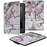 MoKo Kindle Paperwhite Hülle - Ultra Leightweight Schutzhülle Smart Cover mit auto Sleep / Wake Funktion für Alle Kindle Paperwhite (2016 / 2015 / 2013 / 2012 Modelle mit 6 Zoll Display), Map A