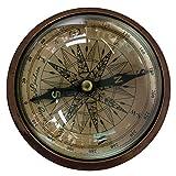 Bussola marittimo compasso ottone decorazione nave navigazione stile antico 12cm