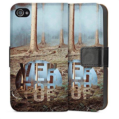 Apple iPhone 5s Housse Étui Protection Coque Arbres Forêt Sol Sideflip Sac