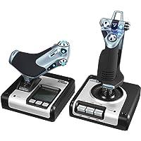 Logitech G Saitek Pro Flight: dispositivo di gioco di simulazione con accelerazione e leva X52 Hotas , nero/argento