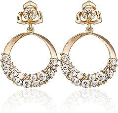 Shining Diva Fashion Stylish Fancy Party Wear Gold Plated Earrings For Women & Girls