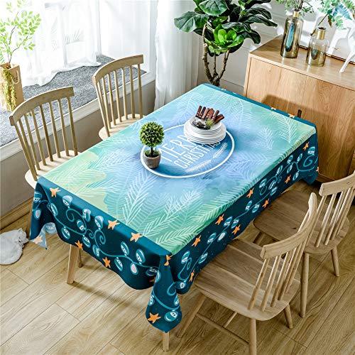 DOTBUY Rechteckige Tischdecke, Weihnachtskarikatur Rechteckig Abwaschbar Polyester Tischdecke Pflegeleicht Garten