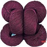 #9: Vardhman Acrylic Knitting Wool, Pack of 8 (Magenta) Baby Soft Wool Ball Hand knitting wool / Art Craft soft fingering crochet hook yarn, needle knitting yarn thread dye